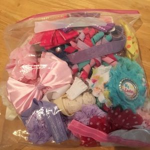Baby girl hair bow lot